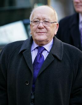 Roy Barraclough attending the funeral of 'Coronation Street' actress Betty Driver at St. Ann's Church on October 22, 2011 in Manchester, England. (Photo by Indigo/Getty Images)