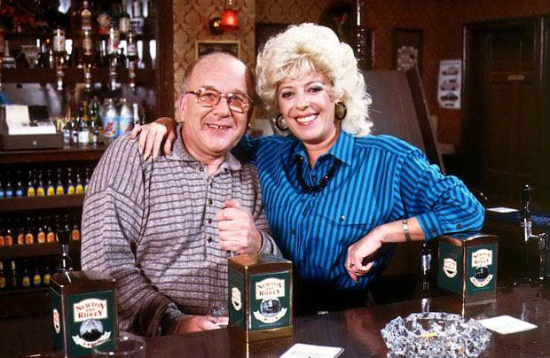 Roy Barraclough and Julie Goodyear in Corrie