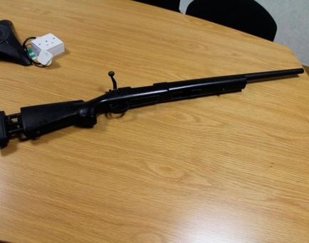 The gun seized in the raids. Picture: Garda Press Office