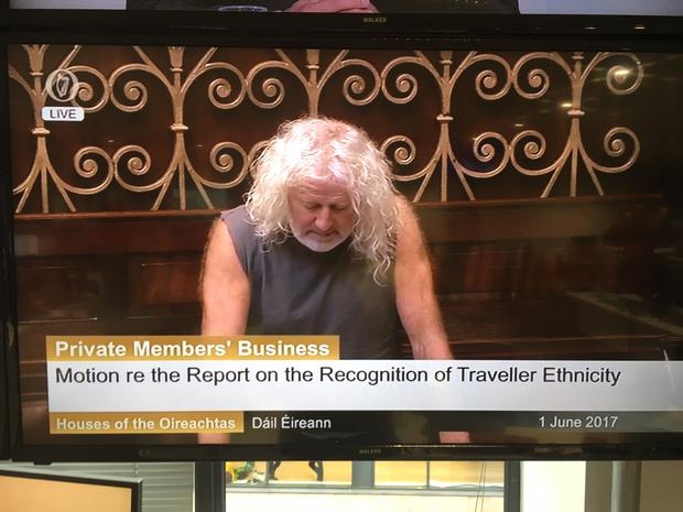 Mick Wallace addressing the Dail