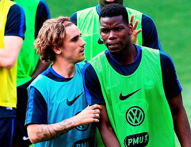 Antoine Griezmann and Paul Pogba
