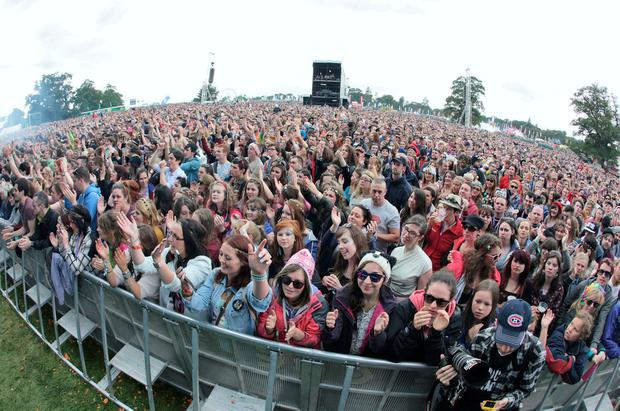 Swell time: The crowd at Electric Picnic's main stage. Photo: Damien Eagers