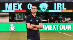 1 June 2017; Republic of Ireland manager Martin O'Neill before the start of the International Friendly match between Republic of Ireland and Mexico at the MetLife Stadium in New Jersey, USA. Photo by David Maher/Sportsfile