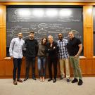 Jamie Heaslip joins Gerard Pique and Katie Holmes at Harvard Business School.