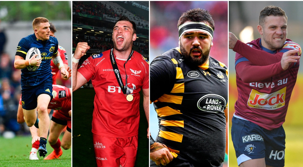 Left to right: Andrew Conway, Tadhg Beirne, Marty Moore and Ian Madigan.