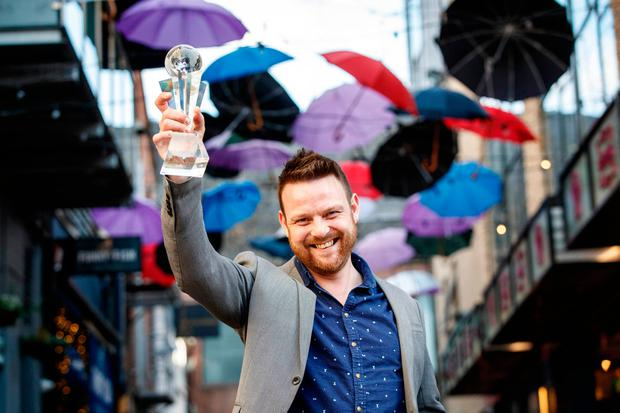 Andy Ferreira from Cask in Cork was crowned as the World Class Irish Bartender of the Year at the World Class Irish Final 2017 at Zozimus, Dublin.  Pic: Andres Poveda
