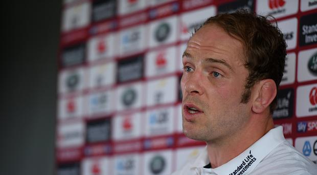 Auckland , New Zealand - 1 June 2017; Alun Wyn Jones of the British and Irish Lions during a press conference at the QBE Stadium in Auckland, New Zealand. (Photo By Stephen McCarthy/Sportsfile via Getty Images)