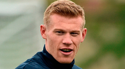 'James McClean (pictured) and Darren Randolph were the only Premier League players in the Irish team'. Photo: David Maher/Sportsfile