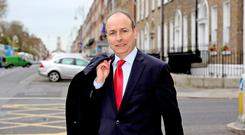 Fianna Fail leader Micheal Martin Picture: Tom Burke