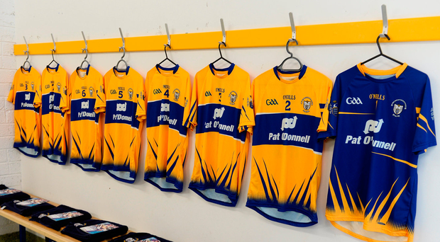Inside the Clare changing room. Photo: Sportsfile