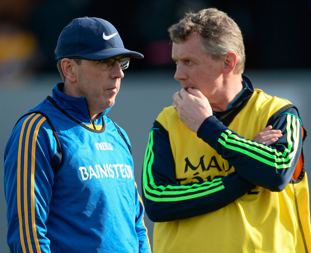 Clare joint managers Gerry O'Connor and Donal Moloney. Photo: Sportsfile