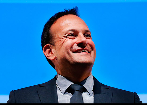 Leo Varadkar newly elected leader of Fine Gael