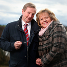 Enda Kenny and his wife Fionnuala. Picture: Gerry Mooney