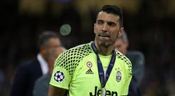 Gianluigi Buffon of Juventus FC disappointed after the UEFA Champions League final match between Juventus FC and Real Madrid CF . Real Madrid beat Juventus 4-1 to win the Champions League. (Photo by Marco Canoniero/LightRocket via Getty Images)