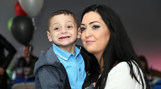 Bradley Lowery on his 6th birthday party with mum Gemma at Welfare Park, Blackhall on May 19, 2017 in Peterlee, England. (Photo by Ian Horrocks/Sunderland AFC via Getty Images)