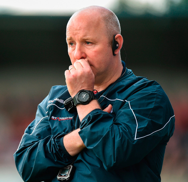 Louth manager Colin Kelly during the Leinster GAA Football Senior Championship Quarter-Final. Photo: Matt Browne/Sportsfile