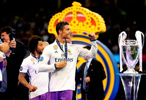 Cristiano Ronaldo celebrates after Real's victory over Juventus in the UEFA Champions League final. Photo: PA