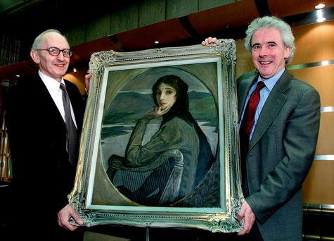 Portrait of Lady Lavery is given to the National Gallery in 2002. Photo: Martin Nolan