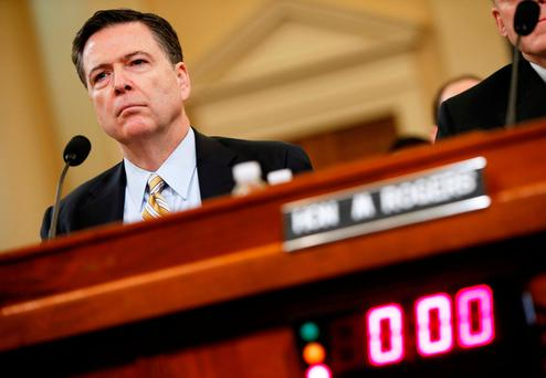 Former FBI Director James Comey. Photo: REUTERS