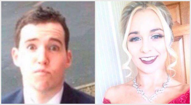 Sean Halloran and his girlfriend, Orla O'Malley