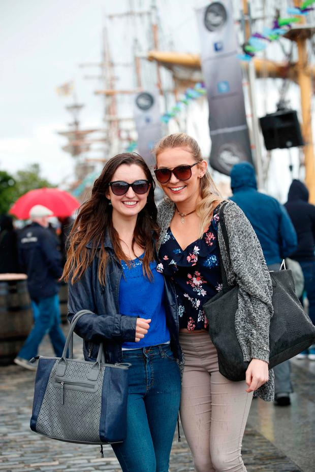 4/5/2017: DUBLIN : Pictured were Elaine Shaw and Melissa Healy among the thousands of visitors enjoying all the festivities of Dublin Port Riverfest.