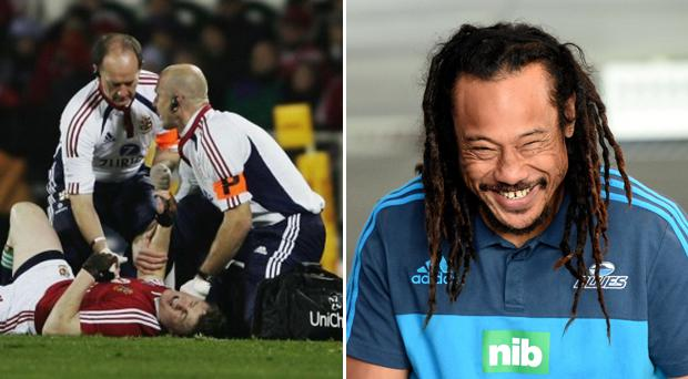 Tana Umaga would not be drawn on his tackle on Brian O'Driscoll back in 2005. Getty