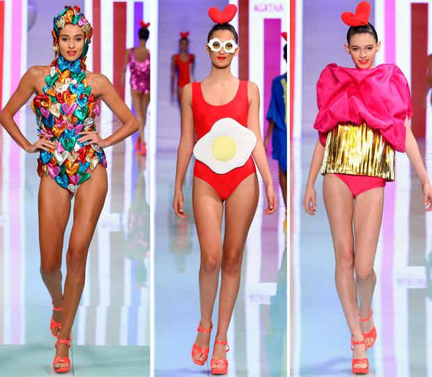 Models walk the runway at the Agatha Ruiz de la Prada fashion show at Miami Fashion Week at Ice Palace Film Studios on June 4, 2017 in Miami, Florida. (Photo by John Parra/Getty Images for Miami Fashion Week)