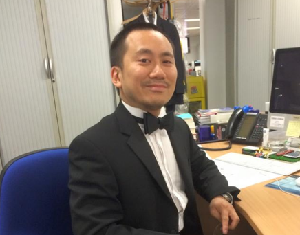 Geoff Ho was stabbed in the throat after he tried to protect a bouncer on the door of the Southwark Tavern Geoff Ho/Facebook