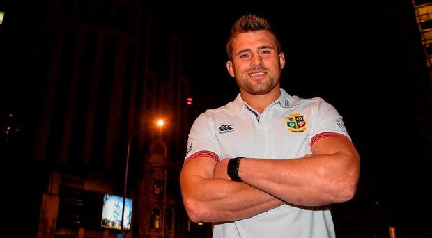 CJ Stander of the British and Irish Lions poses for a portrait following a press conference at the Pullman Hotel in Auckland, New Zealand. Photo by Stephen McCarthy/Sportsfile