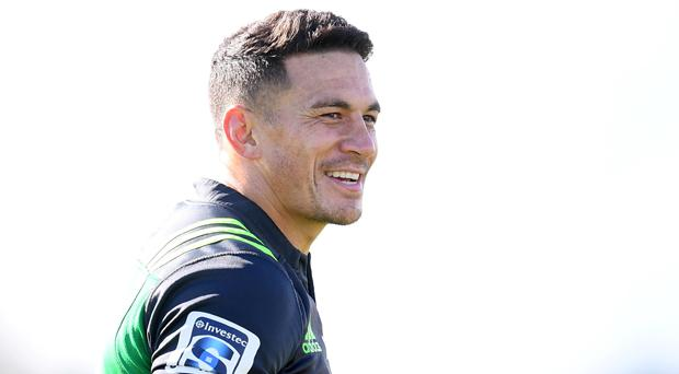 Sonny Bill Williams of the Blues during a training session at Alexandra Park in Auckland today