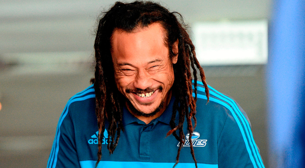 Umaga's reunion with the Lions brought about the inevitable questions about the 2005 incident that ended Brian O'Driscoll's tour. Photo by Stephen McCarthy/Sportsfile