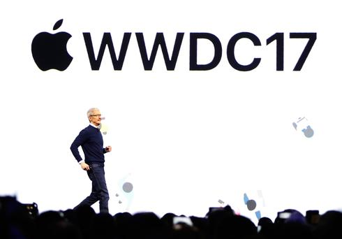 Tim Cook, CEO, speaks during Apple's annual world wide developer conference (WWDC) in San Jose, California