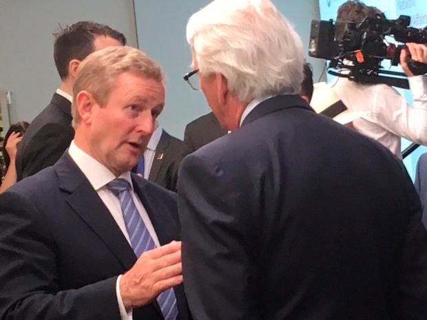 Enda Kenny is in Chicago, where he met with leaders of the Chicago Council on Global Affairs. Photo: Stefano Eposito, Chicago Sun-Times