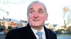 Former Taoiseach Bertie Ahern. Photo: Frank McGrath