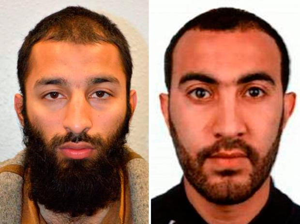 Left: Khuram Shazad Butt. Right: Rachid Redouane. Photo: AFP/Getty Images