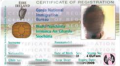 An Irish ID card, possibly issued by the Garda National Immigration Bureau, was found on one of the men shot dead by police
