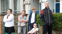 The Taylors arrive on Eastenders next week. PIC: BBC