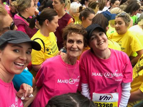 Competitors who ran for the Make A Wish foundation