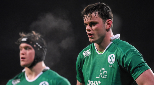 James Ryan, right, and Andrew Porter, Ireland. Electric Ireland U20 Six Nations Rugby Championship, Ireland v Wales, Donnybrook Stadium, Donnybrook, Dublin. Picture credit: Ramsey Cardy / SPORTSFILE