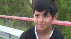 Eight-year-old Achurros football player Milagros
