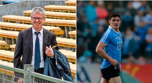 Joe Brolly (left) and Diarmuid Connolly (right).