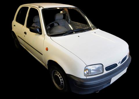 Undated handout photo issued by Greater Manchester Police of a white Nissan Micra released as part of the investigation into Salman Abedi in the days before the Manchester attack.