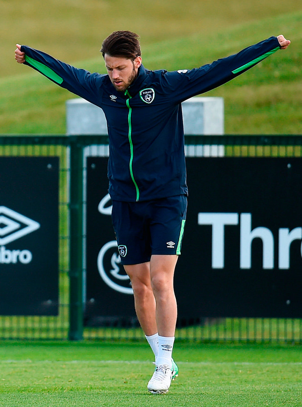 Ireland midfielder Harry Arter in training yesterday. Photo: Sportsfile