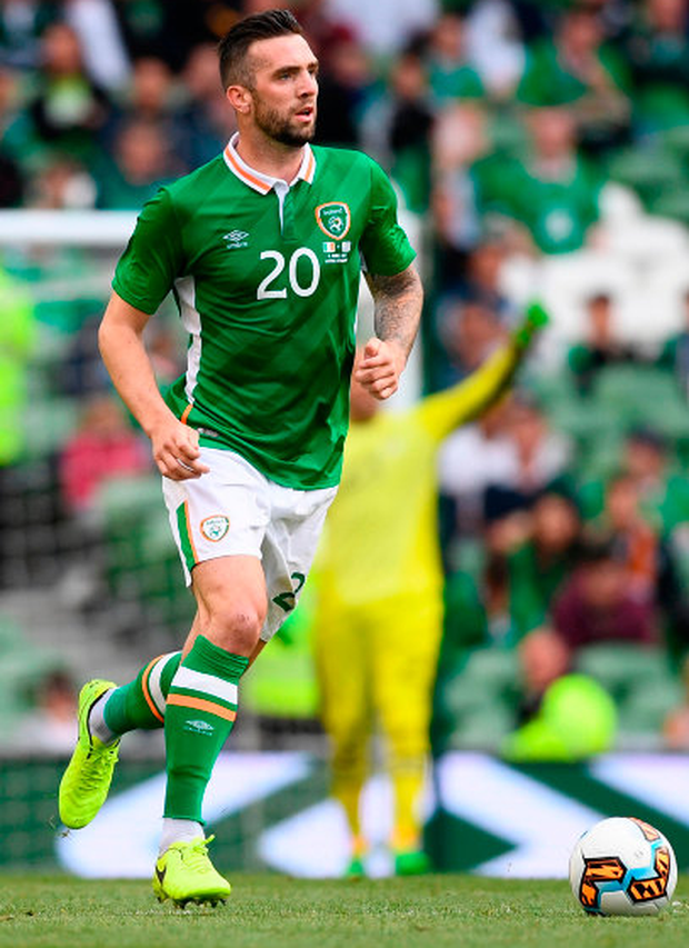 """Shane Duffy aims to improve his game as he seeks to take his career to the next level with Ireland and Brighton, revealing he got """"a slap on the head"""" from Ireland boss Martin O'Neill after his mistake against Moldova last October. Photo: Sportsfile"""