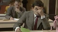 Mr Bean sitting English Paper I