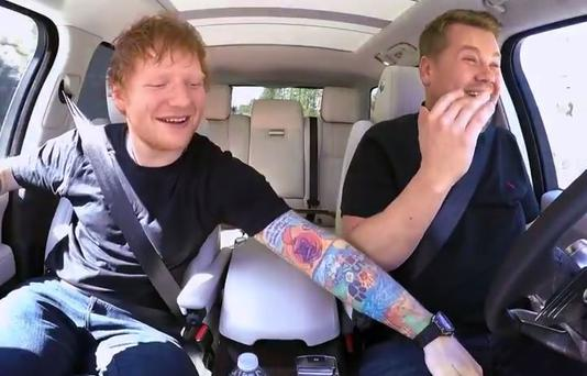 See Ed Sheeran Join James Corden For Carpool Karaoke