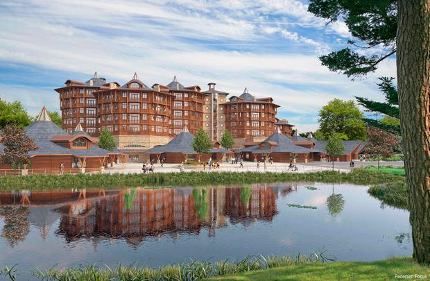 An artist's sketch of the proposed Tayto Park hotel
