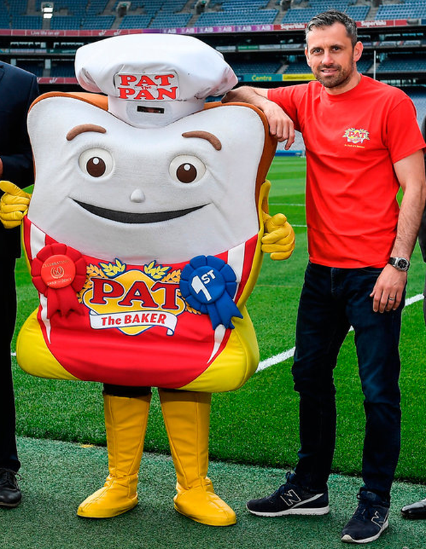 Alan Brogan at the launch of a new partnership between the GAA/GPA and Pat the Bakerto promote the new Protein Bread at Croke Park yesterday. Photo: Sportsfile