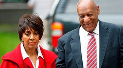 Bill Cosby arrives at court with actress Sheila Frazier. Photo: Reuters