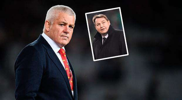 Warren Gatland and (inset) Steve Hansen